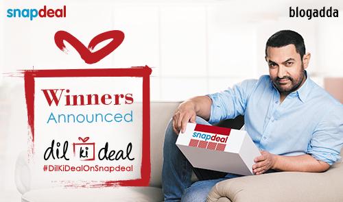 Winner Announcement: #DilKiDealOnSnapdeal