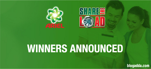 Winner Announcement: Ariel #ShareTheLoad activity
