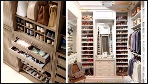 A walk-in-wardrobe by H2Designo