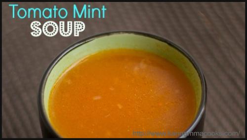 Soups - Tomato Mint Soup Recipe By Sugunna Vinod