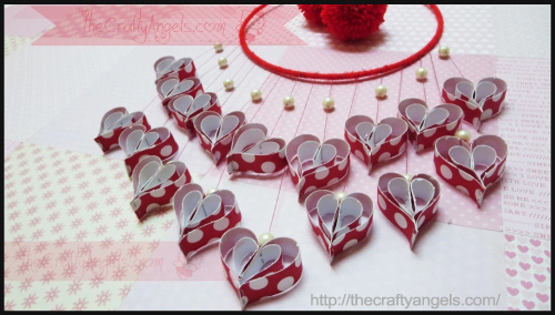 Paper Hearts Wall Hanging By Angela Jose - BlogAdda Collective