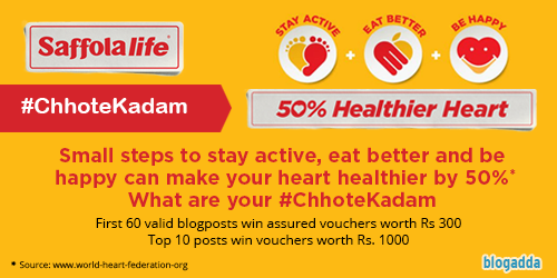 Take Your Small Steps To A Healthy Heart With Saffolalife #ChhoteKadam Initiative