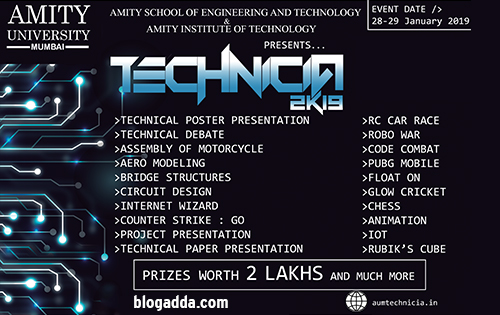 Technicia 2K19 - Amity University, Mumbai