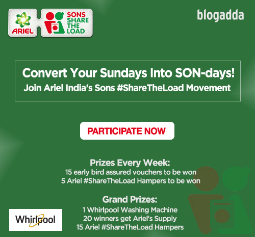 Convert Your Sundays Into SON-days! Join Ariel India's Sons #ShareTheLoad Movement