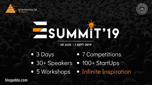 E-Summit 2019 - Entrepreneurship Cell, IIT Kanpur